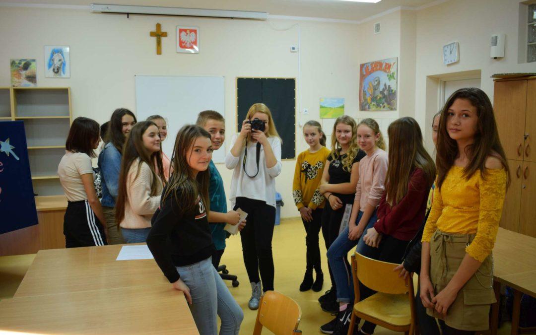 Warsztaty fotograficzne wbibliotece szkolnej